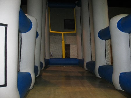 3 point inflatable field goal kicking game rental