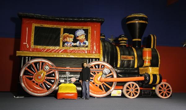children's train combo bounce house