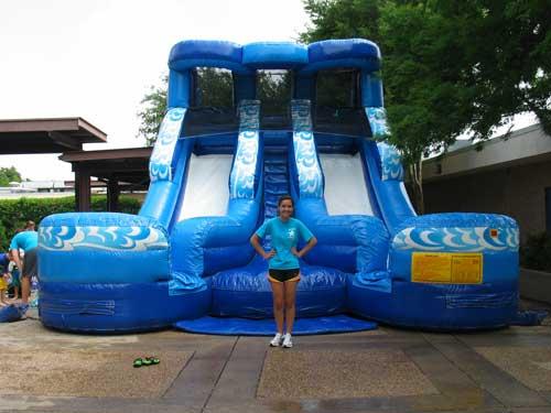 Double Splash Water Slide Rental