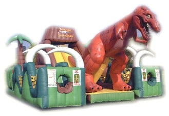 Jurassic Park Bounce House with Obstacle Course