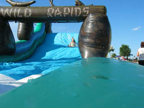 wild rapids water slide - party rental
