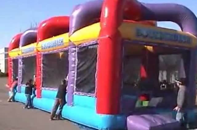 Boulderdash inflatable game rental