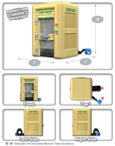 cash vault dimensions