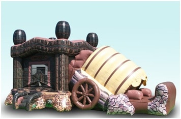 Corral Combo - western Themed Bounce House