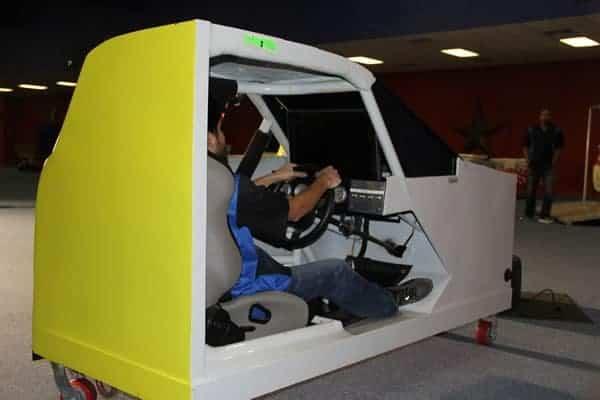 Race car simulator - party rental