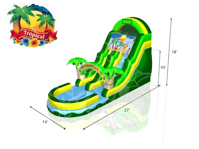 Tropical-Water-Slide-Dimensions