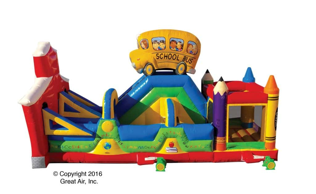 school - obstacle course rental