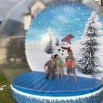 Family in Snow Globe - Dallas, TX