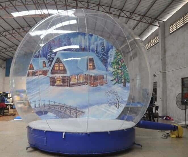 human snow globe rental- Dallas