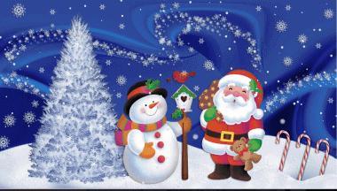 Santa Claus - Snow Globe Background