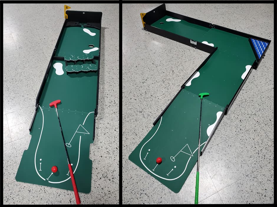 Brush Obstacle and Left Angle Putting Holes
