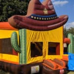 Western Bounce House with Slide