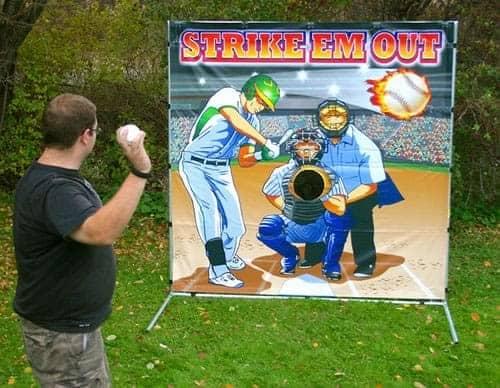 baseball toss carnival rental