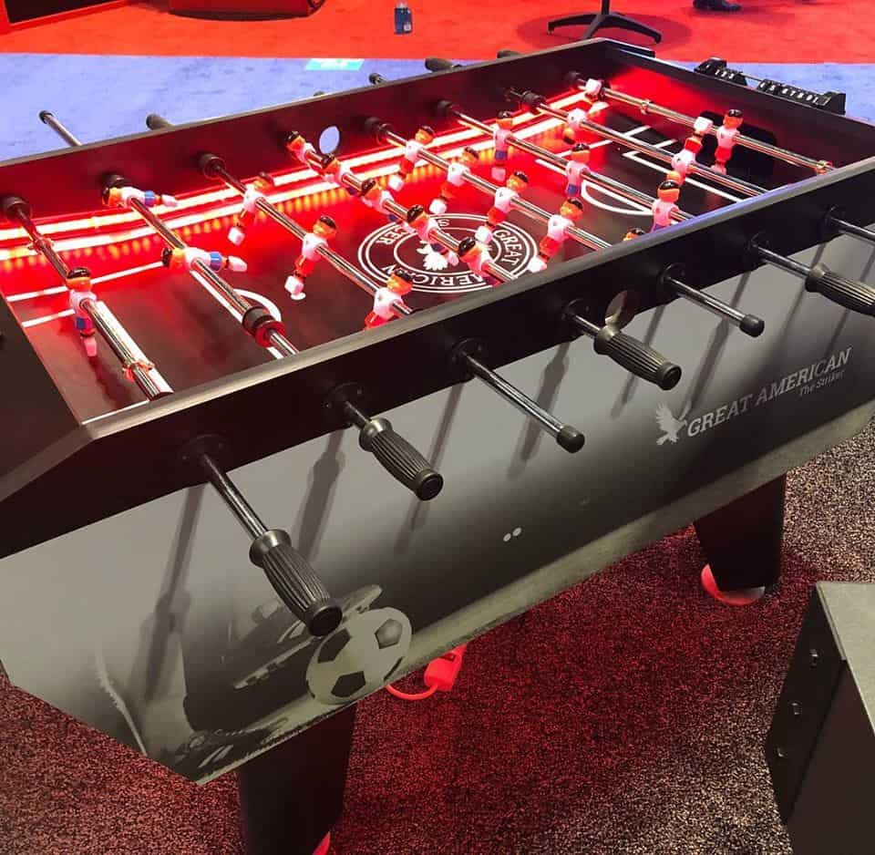 foosball table - LED lighting